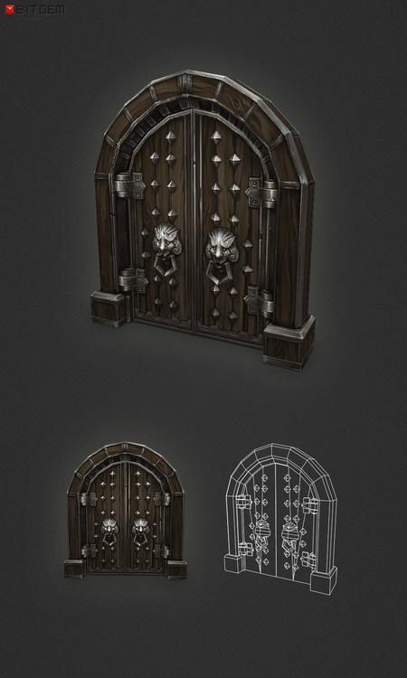 Wooden Dungeon Door