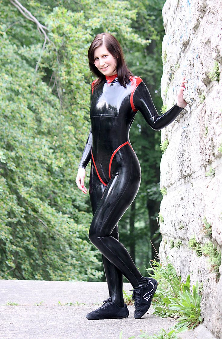 Outdoor Walk In Latex Catsuit Other Latex Pictures