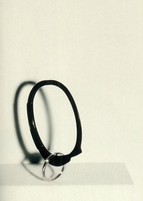 helmut lang handcuff bracelet with keyring photography jenny van sommers arena homme plus, fall–winter 2004–2005