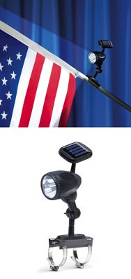 Solar Flag Pole Light - for the ones that want to proudly display Ole Glory the proper way at night.