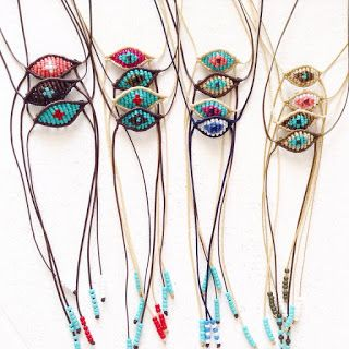 Summer collection evil eye necklaces