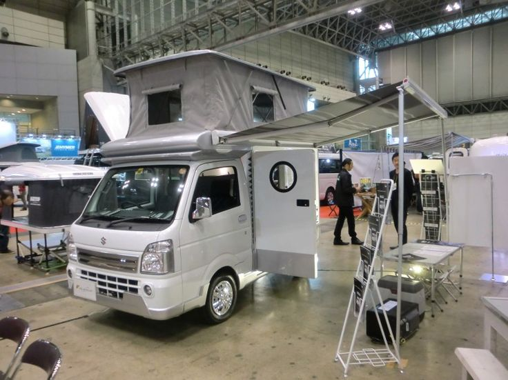 The CAMPMASTER from Schtelt - a K-Camper based on the pick-up version of the Suzuki Carry K-truck (Photo: Stephen Clemenger/Gizmag.com) | Pinterest | Cars, ...