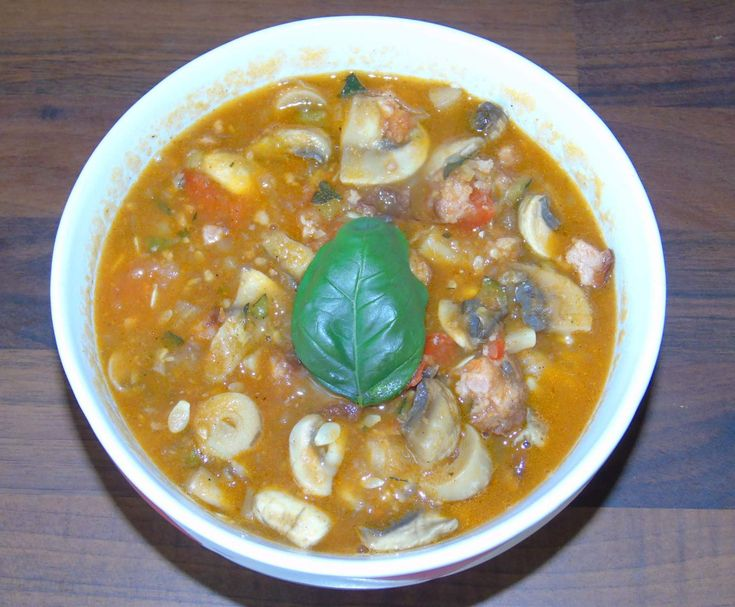 Przepis Leczo z pieczarkami, kiełbasą i cukinią przez biegamzchtmo - Widok przepisu Inne dania główne