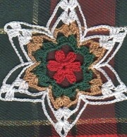 Miniature poinsettia. - free crochet pattern
