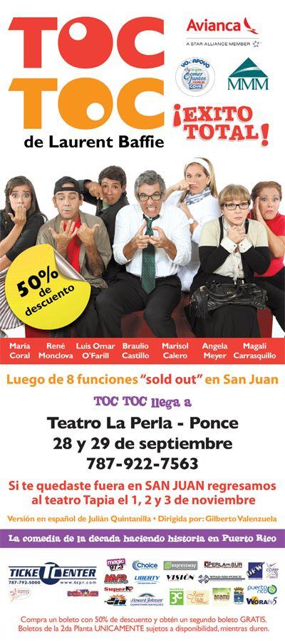 TOC TOC @ Teatro La Perla, Ponce #sondeaquipr #toctoc #teatro #teatrolaperla #ponce