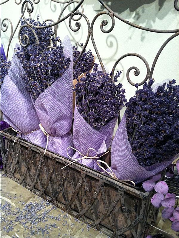 Bundles of French lavender