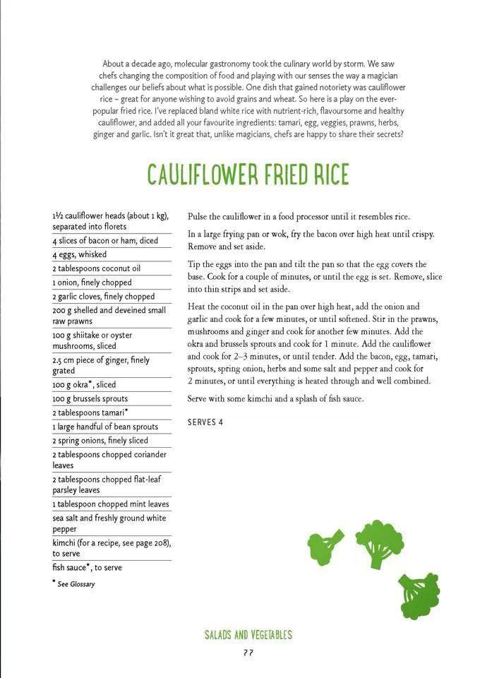 Paleo Cauliflower Fried Rice - by Pete Evans