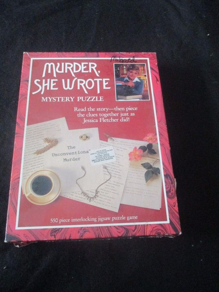Murder She Wrote Jessica Fletcher Mystery Jigsaw Puzzle 550 pieces Current Inc #AmericanPublishing