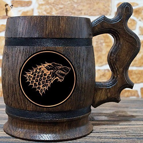 House Stark Mug, Winter is Coming, Game of Thrones Gift, GoT, Game of Thrones Inspired Gift, Beer Tankard, GoT Stein, Copper Label, GT06C - Groomsman gifts (*Amazon Partner-Link)