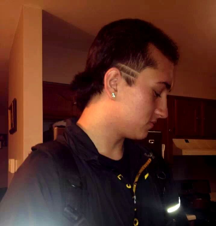 My #nephew and his #patrick #kane #mullet
