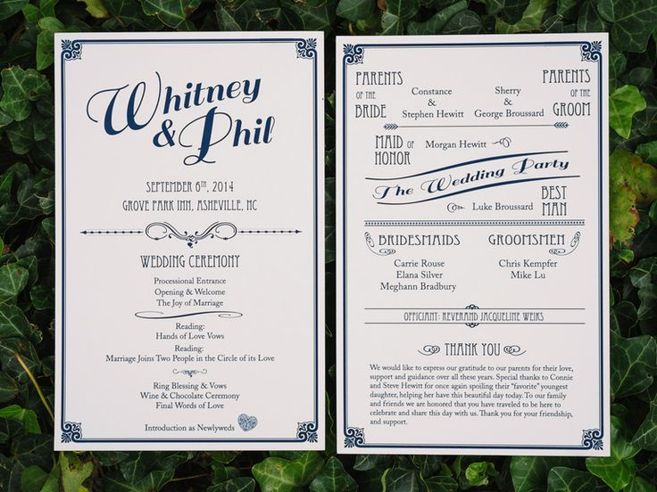 What Should Be Included In Wedding Invitation: What Do You Include In A Ceremony Program?