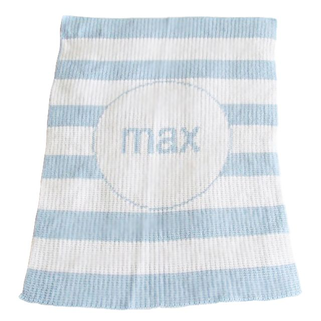 Modern Stripe Blanket - we are smitten with these soft and cuddly, customizable blankets. #PNshop: Personalized Blankets, Stripes Blankets, Personalized Strollers, Gifts Ideas, Strollers Blankets, Baby Boys, Baby Blankets, Knits Blankets, Modern Stripes