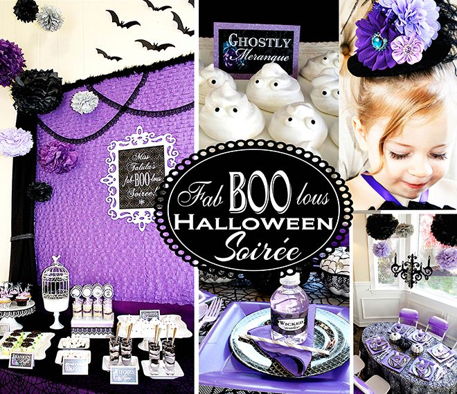 Inspiration for a purple Halloween birthday party full of fabulous Halloween treats, decoration ideas, and photos!