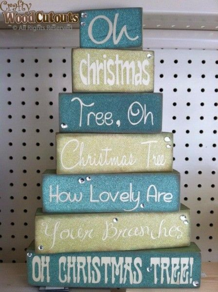 Oh Christmas Tree Blocks | DIY Unfinished Wood Crafts