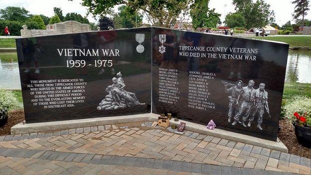Vietnam Memorial Monument Unveiling in Lafayette, IN (photo via US Representative Todd Rokita, summer 2016)