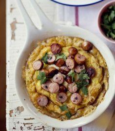 Frankfurter omelette in oven/Nakkimunakas uunissa