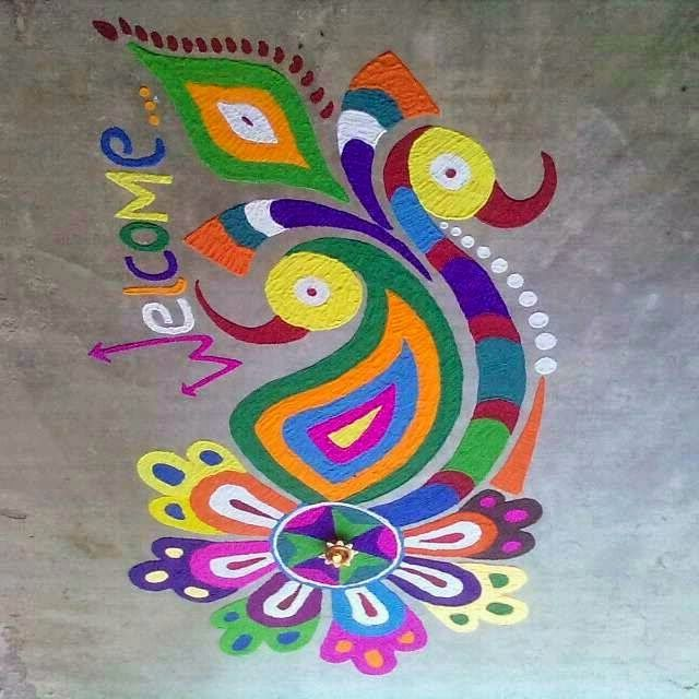 Happy New Year Rangoli Design Gallery 82