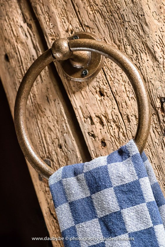 Pure Plus towel holder in Raw Bronze. More industrial design finishes on www.dauby.com