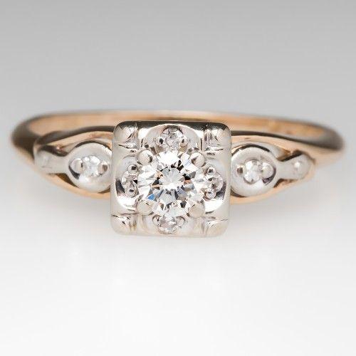1950's Illusion Set Diamond Ring