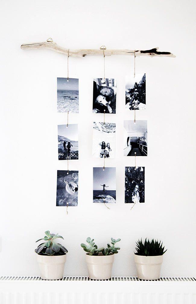 Креативные идеи размещения фотографий в интерьере
