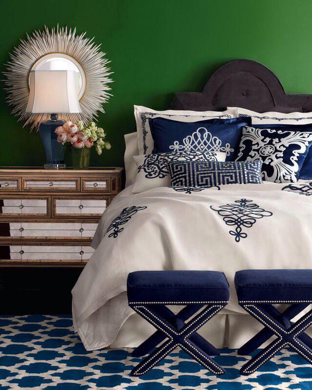 Green Interiors Interior Design Pinterest Bedrooms And White Bedding