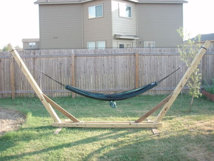 Backyard Hammock Stand : Backyard Hammock Stand  personally, I DO NOT like these They look
