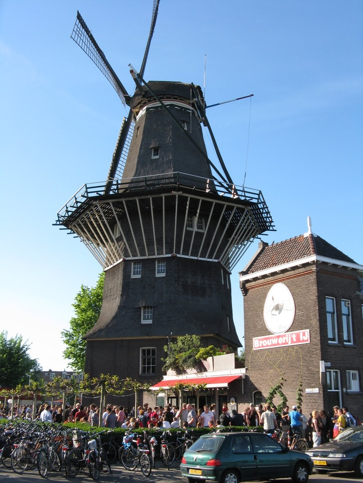 Brouwerij Het IJ, Amsterdam, The Netherlands. Is is a local brewery called Brouwerij Het IJ, one the oldest breweries in the city and uniquely located under a windmill.They brew seven beers regularly. You can took a tour of the micro-brewery and then sit outside and meet the locals, very nice place in lovely Amsterdam.