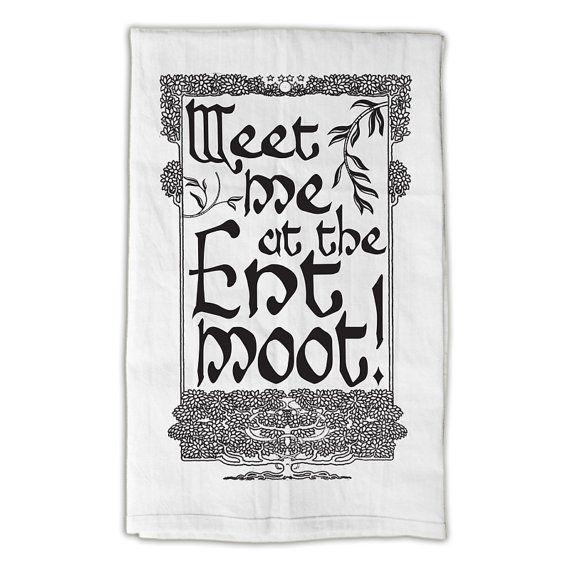 Ent Moot Tea towel Treebeard LOTR Lord of the Rings  by AspieTees, $19.99