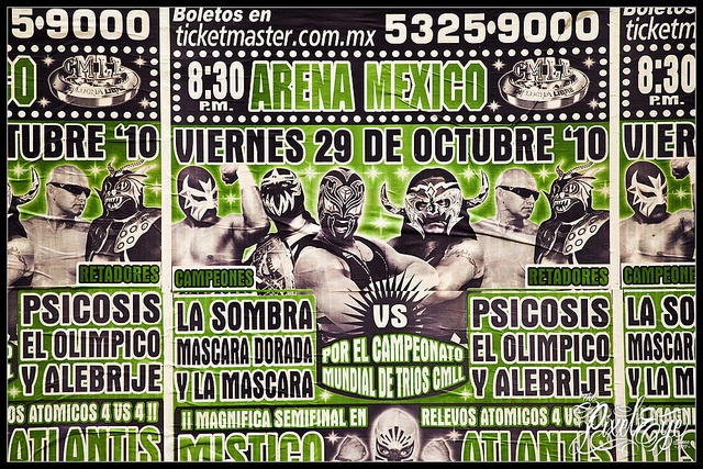 Lucha Libre Poster, Mexico City by Pixeleye Interactive // Dirk Behlau, via Flickr