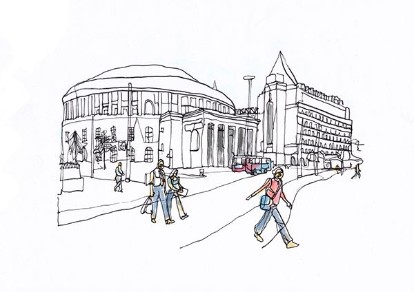 Conor Leary is a graphic designer and illustrator. This illustration of Manchester was for his university project. Head to his Behance account to see all his work.