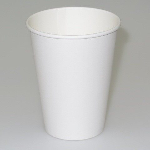 90mm top × 60mm bottom + 110mm | 12 oz | White Compostable Paper Hot Drink Cup - Wholesale and Retail | Suppliers of Paper and Plastic Food Service Baking Party Products | Online Sydney NSW Australia