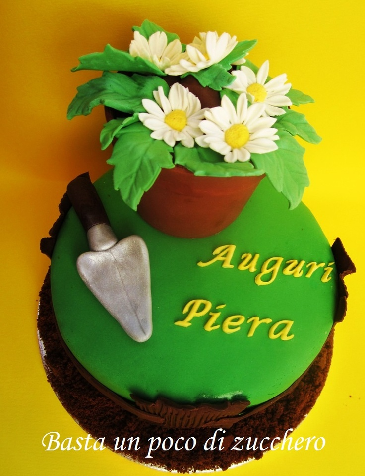 Torta vaso di fiori https://www.facebook.com/pages/Basta-un-poco-di-zucchero/457345627755507