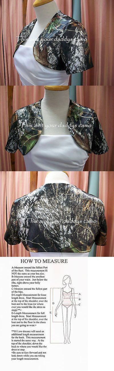 Wraps and Jackets 105472: Custom Camo Bolero Short Sleeve Jacket Made In The Usa Wedding Prom Bridesmaid -> BUY IT NOW ONLY: $45 on eBay!