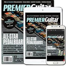 Get FREE 5 issues of Premier Guitar magazine + app.