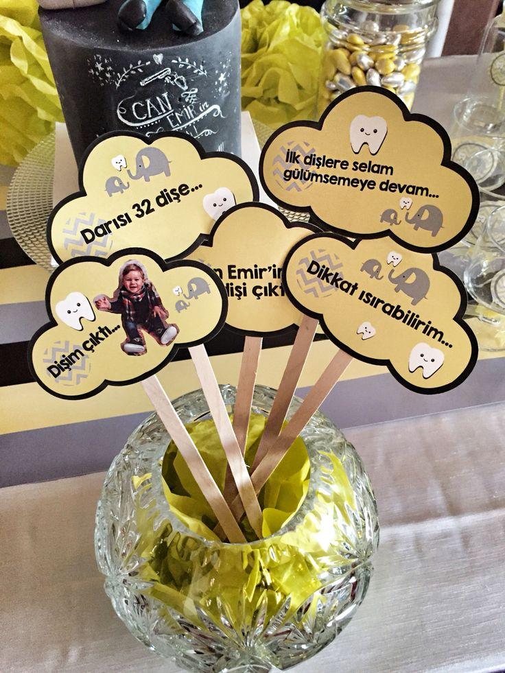 Cubuklu kartlar #disbugdayi #disbugdayipartisi #chevron #chevrontema #sarigrikonsept #sarigri #organizasyonfirmasi #cubuklukart