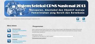 """Pendaftaran CPNS 2013 Online di situs http://sscn.bkn.go.id merupakan langkah jitu yang akan mempermudah pelamar kerja untuk """"hanya"""" membuka satu website/situs saja untuk mencari informasi resmi dari berbagai instansi yang membuka penerimaan cpns 2013, namun sayangnya sampai saat ini tanggal 5 September 2013, baru sekitar 24 instansi pemerintah yang baru bekerjasama dengan BKN"""