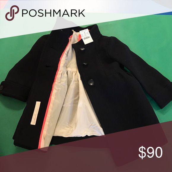 Girls SiZe 2 CrewCuts Dark Navy Peacoat Brand new CREWCUTS PEACOAT WITH TAGS J. Crew Jackets & Coats Pea Coats