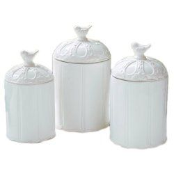 Mud Pie Bird Canister Set (Set of 3), #WhimsicalUmbrella #Kitchen  whimsicalumbrella.com