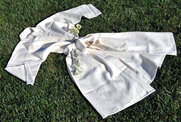 Albornoz en lino-algodón, hombre-mujer, diferentes tallas y tejidos, pero  siempre naturales