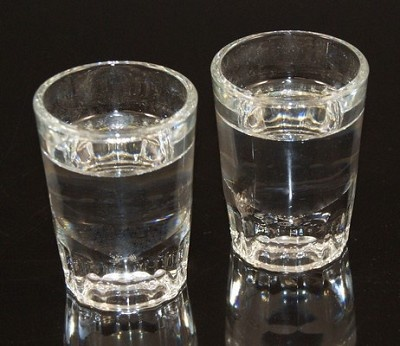 Fake Food Tequila Shots Silver Set of 2