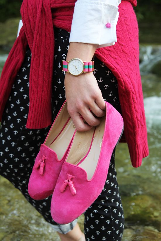 Even though they're pink, I love those loafers.