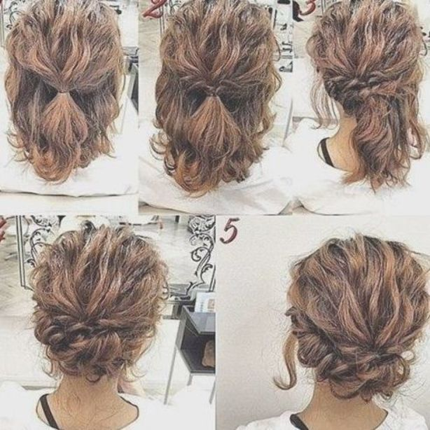 Romantic Easy Updo Hairstyle Tutorial For Short Hair Sweet And Simple Prom Hair Styles Updohair Simple Prom Hair Updo Hairstyles Tutorials Short Hair Styles