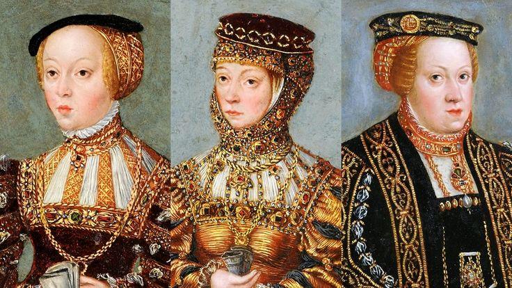 Żony Zygmunta Augusta: Elżbieta Habsburżanka (1526-1545), Barbara Radziwiłłówna (1520/1523-1551), Katarzyna Habsburżanka (1533-1572)