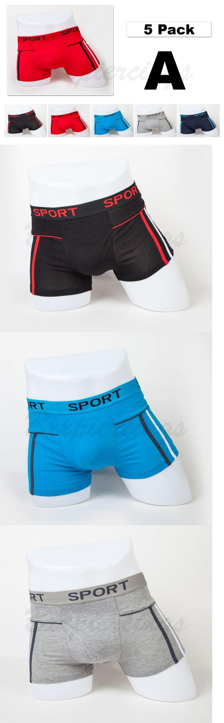 Man Underwear: 5 Pack Mens Boxer Briefs Cotton Underwear Stretch Trunk Short Bulge Lot Xs S M L -> BUY IT NOW ONLY: $10.78 on eBay!