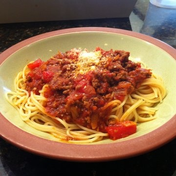 Isabel's Spaghetti and Meat Sauce in Recipes on The Food Channel®