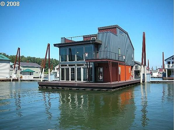 159 best images about boat houses on pinterest for Floating homes portland