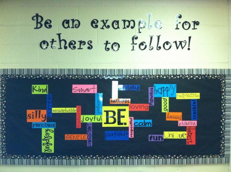 """""""BE"""" Bulletin Board!  Fantastic Back to School board idea!  :)"""