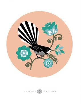Check out Fantail Dot by Greg Straight at New Zealand Fine Prints