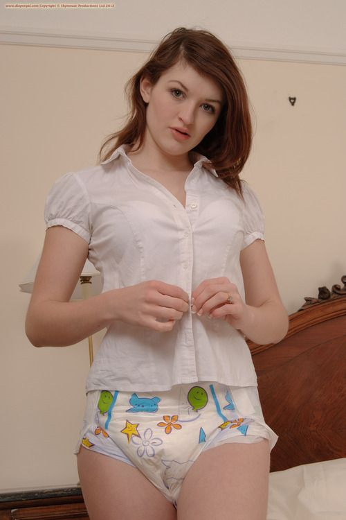 Adult baby girl diapered