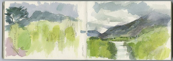 Sketchbook. Glen Affric. Another spread from my recent Scottish trip. One of the most beautiful places; I have fond memories of being there with friends.